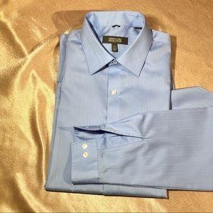 NWT KENNETH COLE blue men shirt long sleeve 16.5 L